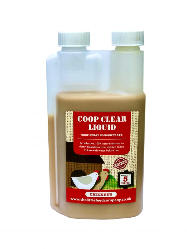 Coop Clear liquid. red mite spray